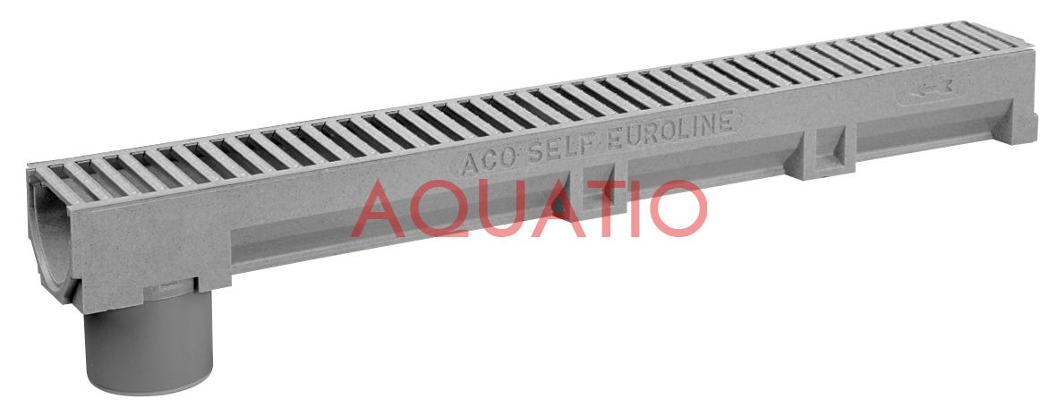 aco self euroline channel 1 m galvanized steel grate. Black Bedroom Furniture Sets. Home Design Ideas