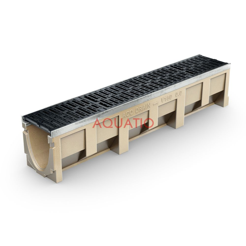 aco multiline v150 channels and catch basins. Black Bedroom Furniture Sets. Home Design Ideas